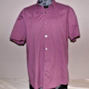 Axist purple Button Up short sleeve XXl